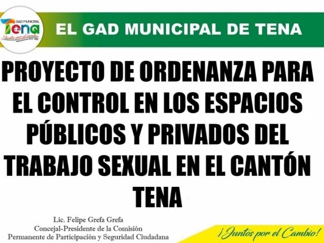 PROYECTO ORDENANZA PARA EL CONTROL DE ESPACIOS PUBLICOS Y PRIVADOS DE TRABAJO SEXUAL