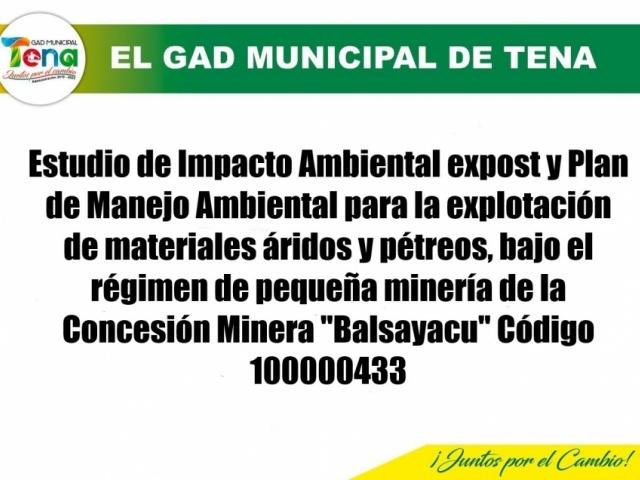 ESTUDIO DE IMPACTO AMBIENTAL CONCESIÓN MINERA